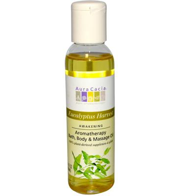 Aura Cacia Eucalyptus Harvest Body Oil (1x4 Oz)