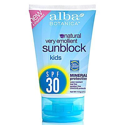 Alba Botanica SPF 30 Kids Mineral Sunscreen (1x4 Oz)