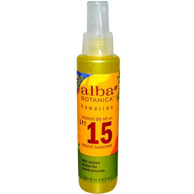 Alba Botanica Hawaiian Sunscreen Coconut Dry Oil Spf15 (1x4.5 Oz)