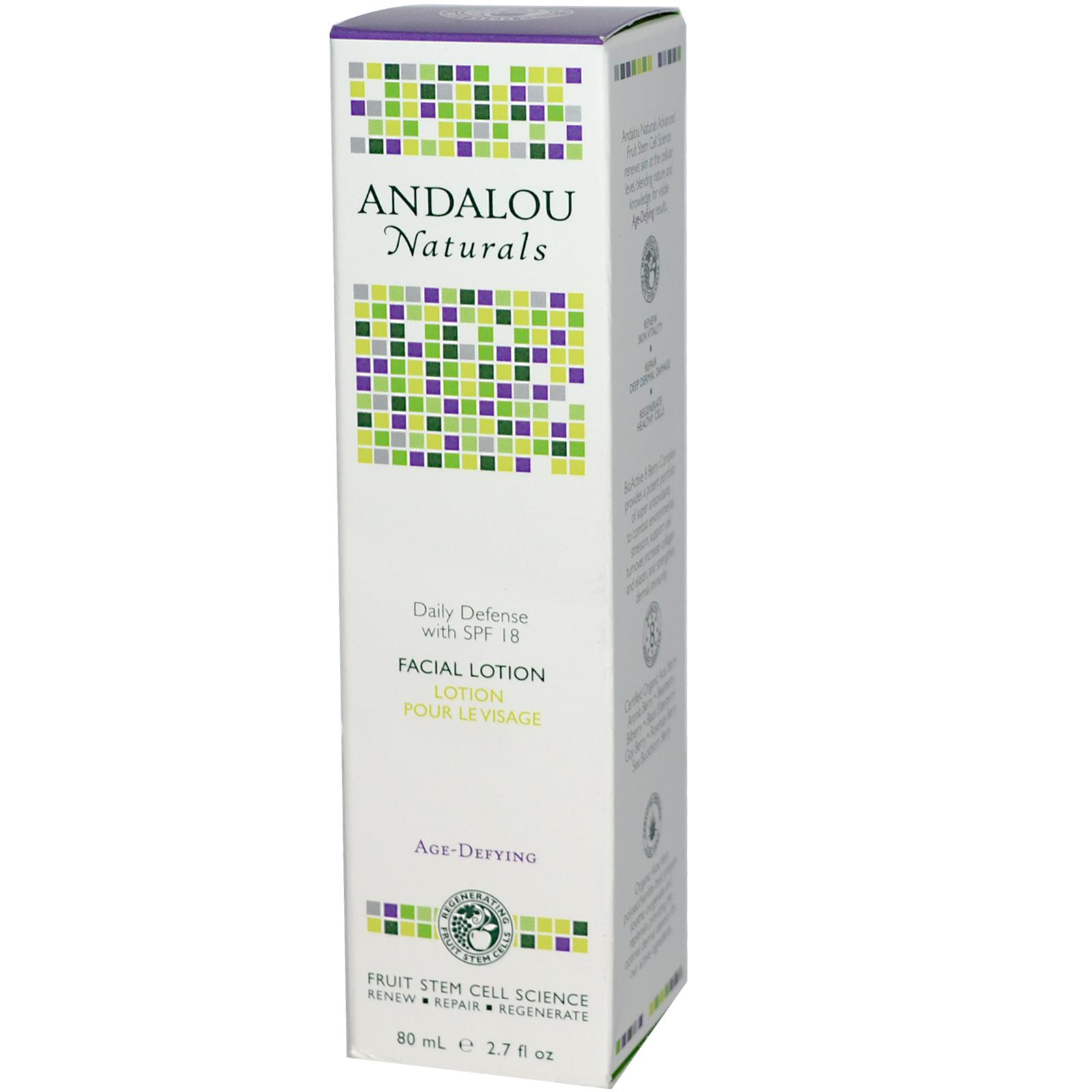 Andalou Naturals Daily Defense Facial Lotion w/ SPF 18 (1x2.7 Oz)