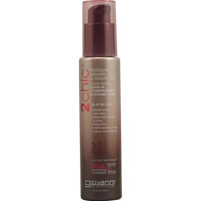Giovanni Leave-In Conditioning Elixir Brazilian Keratin & Argan Oil (1x4 Oz)