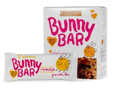18 Rabbits Bunny Mimi Merry Mango Strawberry Bars (6x6x1.05 Oz)