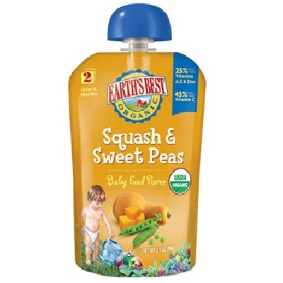 Earth's Best Baby Foods Puree Sqsh/Swtpea (12x3.5OZ )