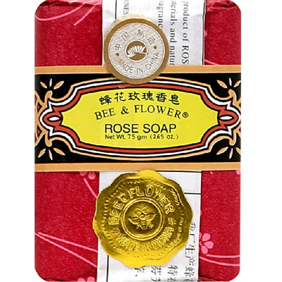 Bee & Flower Soaps Rose Large (4x4.4OZ )