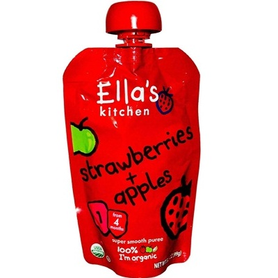Ella's Kitchen Straw/Apple Baby (7x3.5OZ )