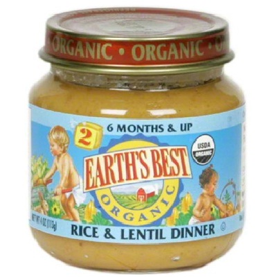 Earth's Best Baby Foods Baby Rice/Lentil (12x4OZ )