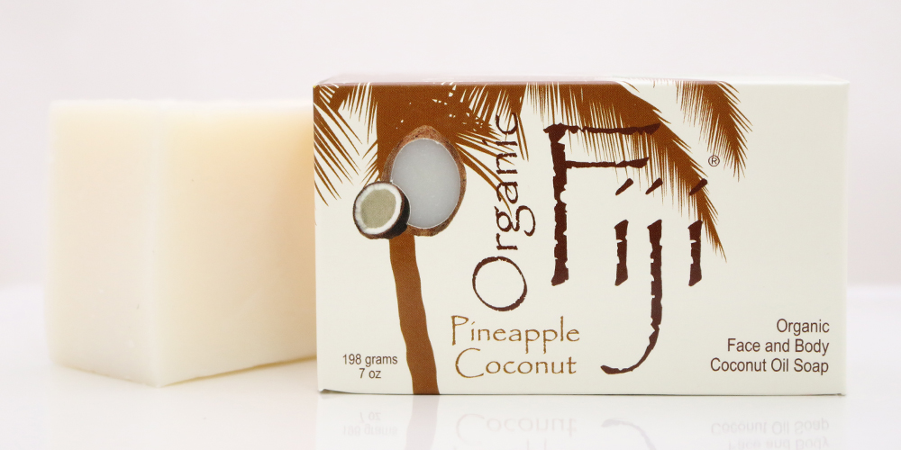 Organic Fiji Pineap Coconut Soap (1x7OZ )
