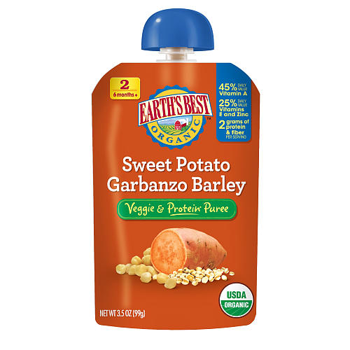 Earths Best Baby Foods Sweet Potato Garbanzo Barley (12x3.5 OZ)