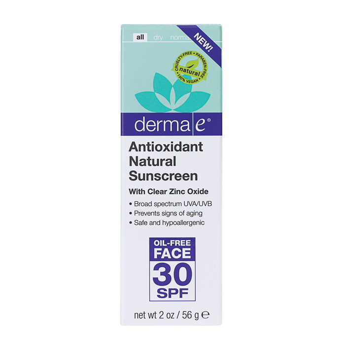Derma E Skin Care Oil Free Face, Antioxidant SPF 30 (2 OZ)