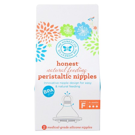 The Honest Company Natural Feeding Peristaltic Nipples Fast (1x2 Ct)