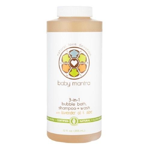 Baby Mantra 3-in-1 Bubble Bath, Shampoo + Wash (1x12 OZ)
