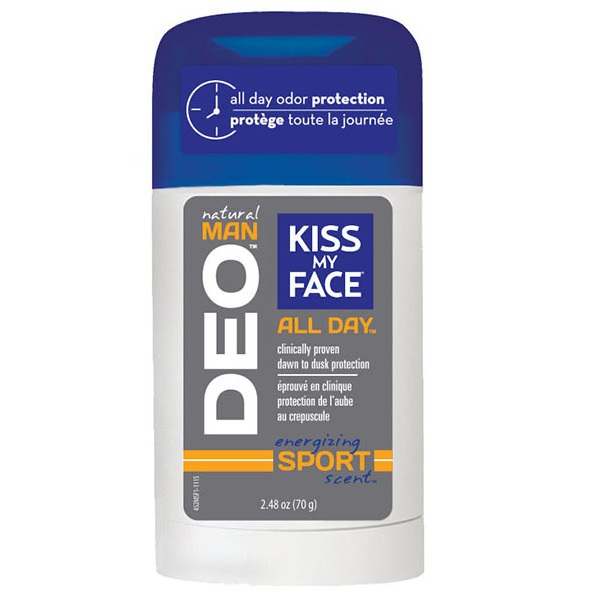 Kiss My Face Natural Man All Day Deodorant Energizing Sport Scent (1x2.48 OZ)