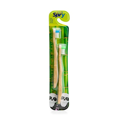 XLEAR Spry Bamboo Kids Toothbrush  (12x2 PACK)