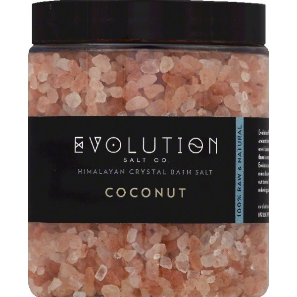 Evolution Salt Himalayan Coconut Crystal Bath Salt (1x26 OZ)