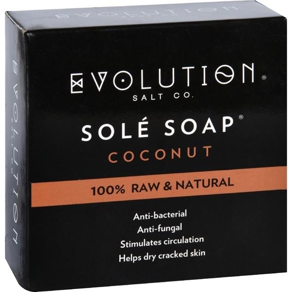 Evolution Salt Sole Bath Soap Coconut (1x4.5 OZ)