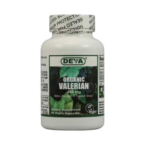 Deva Vegan Organic Valerian 460 mg (90 Veg Capsules)