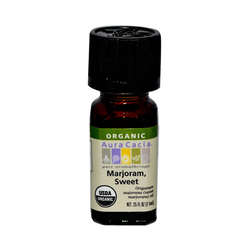Aura Cacia Organic Essential Oil Marjoram Sweet (1x0.25 Oz)