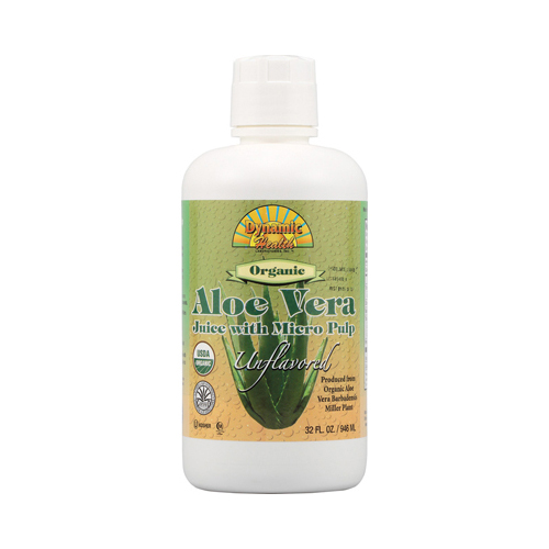 Dynamic Health Organic Aloe Vera Juice with Micro Pulp (32 fl Oz)