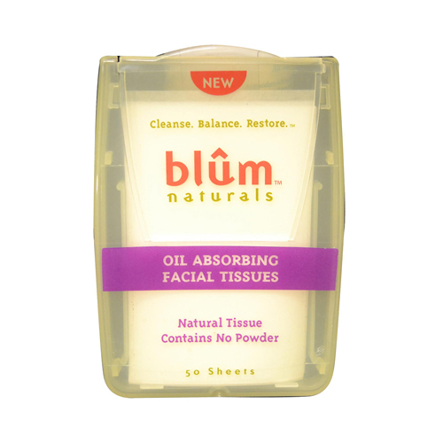 Blum Naturals Oil Absorbing Facial Tissues 50 Sheets (6 Pack)