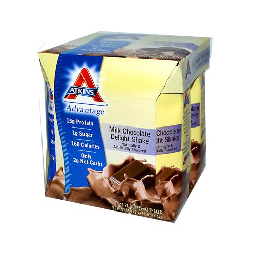 Atkins Advantage RTD Shake Milk Chocolate Delight (1x4/11 fl Oz)