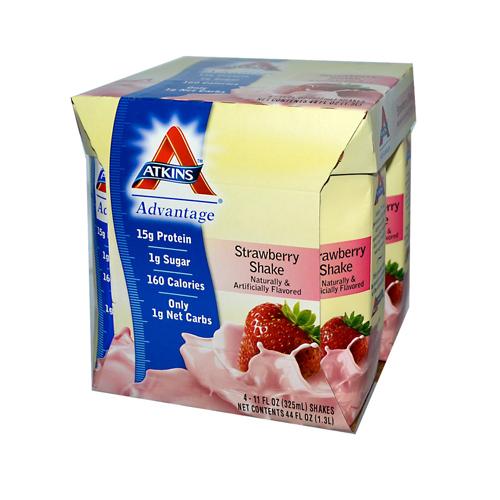 Atkins Advantage RTD Shake Strawberry (1x4/11 fl Oz)