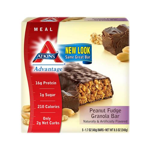 Atkins Advantage Bar Peanut Fudge Granola (1x5 Bars)
