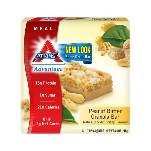 Atkins Advantage Bar Peanut Butter Granola (1x5 Bars)