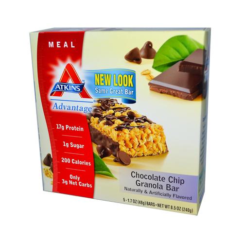 Atkins Advantage Bar Chocolate Chip Granola (1x5 Bars)