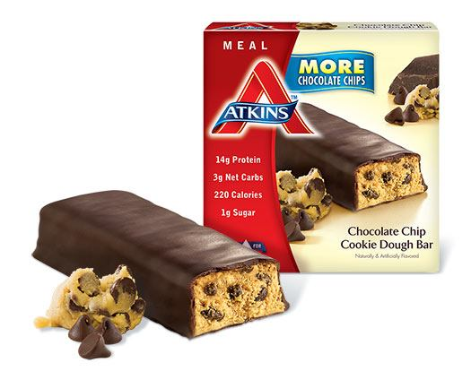 Atkins Advantage Bar Chocolate Chip Cookie Dough (1x5 Bars)