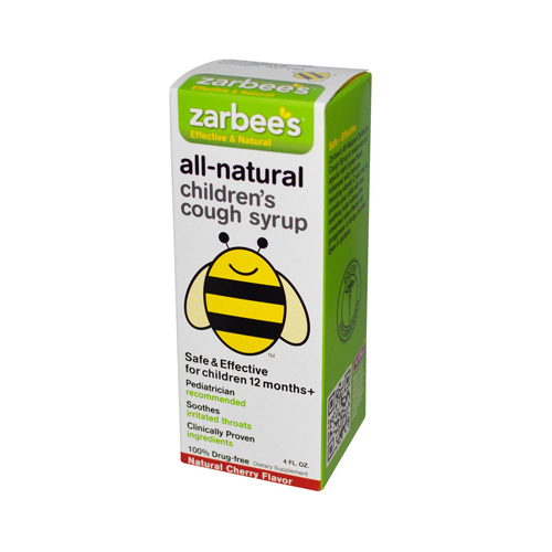 Zarbee's All-Natural Children's Cough Syrup 12 Months+ Natural Cherry Flavor 4 Oz