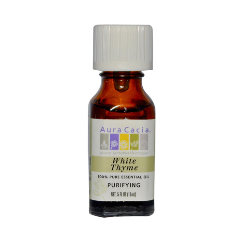 Aura Cacia White Thyme Pure Essential Oil (0.5 fl Oz)