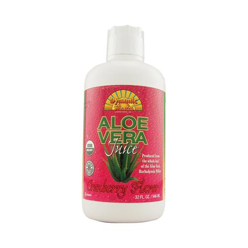 Dynamic Health Organic Aloe Vera Juice Cranberry (32 fl Oz)