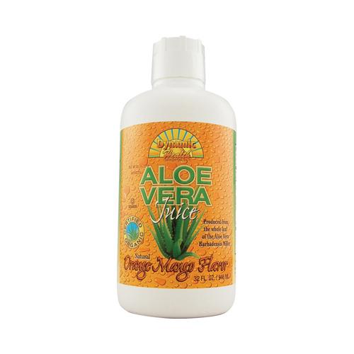 Dynamic Health Organic Aloe Vera Juice Orange Mango (32 fl Oz)