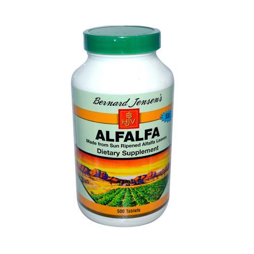 Bernard Jensen Alfalfa Leaf Tablets 550 mg (1x 500 Tablets)