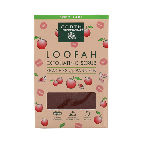 Earth Therapeutics Loofah Exfoliating Bar Soap Peaches Passion (1x4.2 Oz)