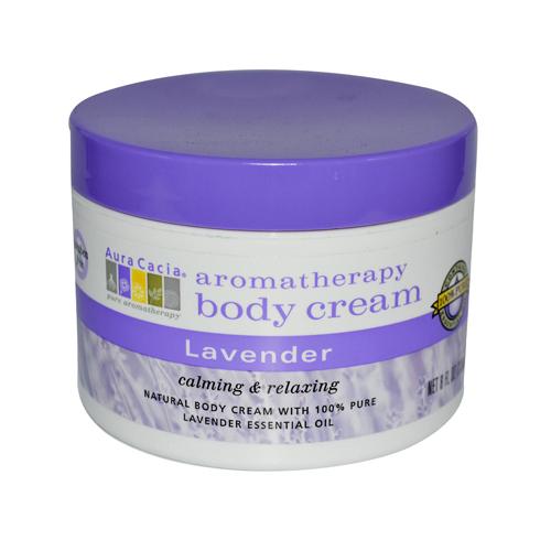 Aura Cacia Body Cream Lavender (8 fl Oz)