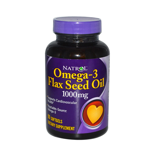 Natrol Omega-3 Flax Seed Oil 1000 mg (90 Softgels)