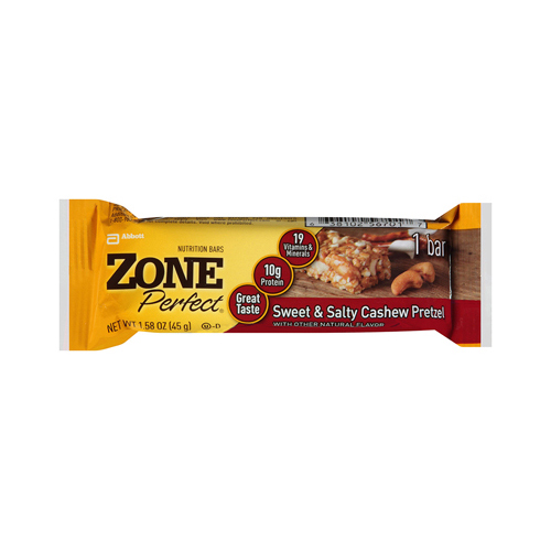 Zone Bar Cashew Pretzle Sweet and Salty (12 Pack) 1.58 Oz