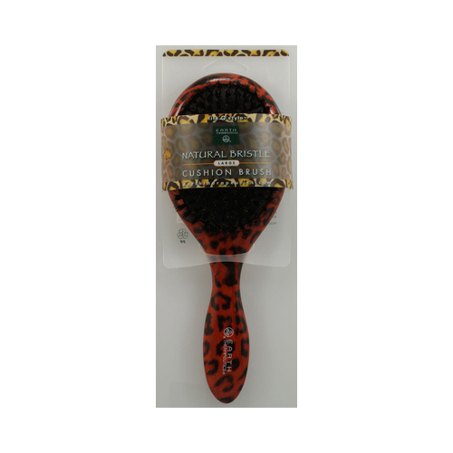 Earth Therapeutics Large Lacquer Pin Cushion Brush with Leopard Design (1 Brush)
