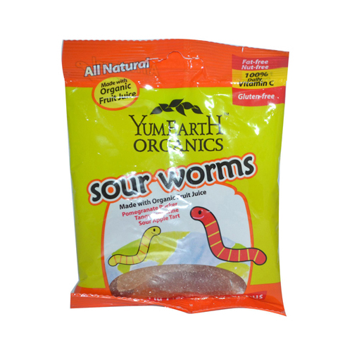Yummy Earth Organic Worms (12 x2.5 Oz)
