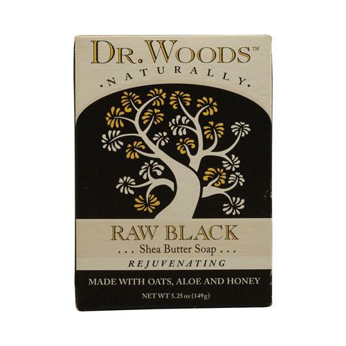 Dr. Woods Bar Soap Raw Black (1x5.25 Oz)