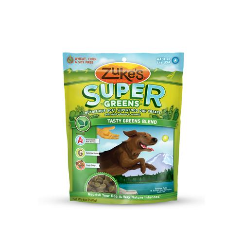 Zuke's Soft Superfood Green Blend Dog Treats (1x3Oz)