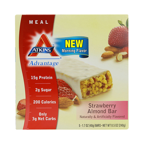 Atkins Advantage Bar Strawberry Almond (1x5 Bars)