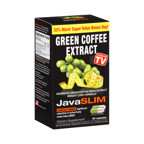 Intramedics Javaslim Green Coffee (1x80 Capsules)
