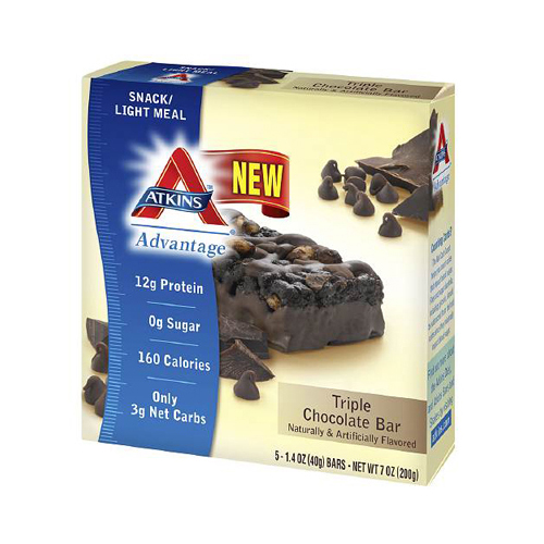 Atkins Advantage Bar Triple Chocolate Box (5x 1.4 Oz)