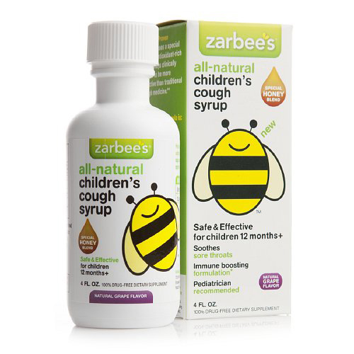 Zarbee's All Natural Children's Cough Syrup Grape 4 Oz