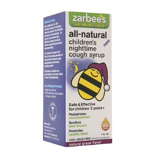 Zarbee's All Natural Children's Nightime Cough Syrup Grape 4 Oz