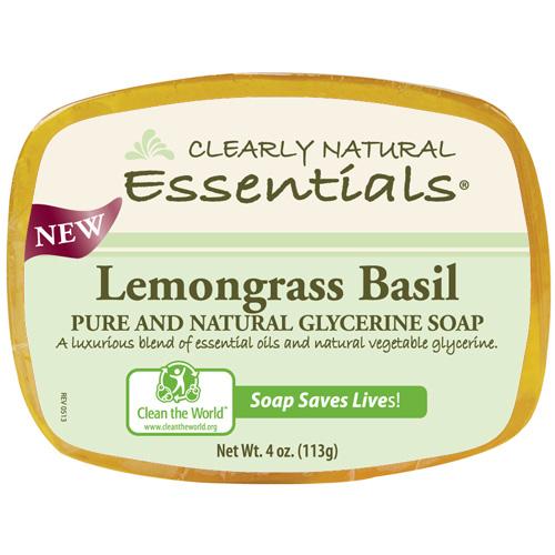 Clearly Natural Glycerin Bar Soap Lemongrass Basil (1x4 Oz)