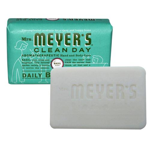 Mrs. Meyer's Bar Soap Basil (12x5.3 Oz)