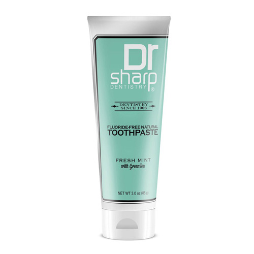 Dr. Sharp Natural Oral Care Toothpaste Fresh Mint with Green Tea (1x3 Oz)